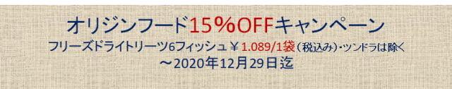 オリジン15%OFFキャンペーン2